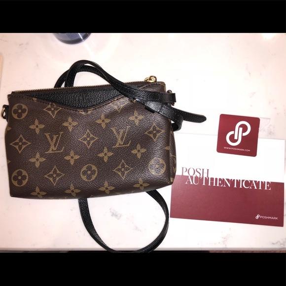 29e341cc827e Louis Vuitton Handbags - Authentic NEW Louis Vuitton Pallas Clutch Black